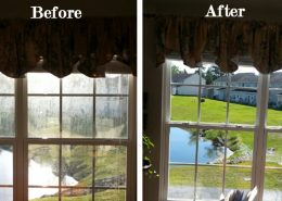 woodlands window cleaning before and after