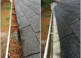 Gutter cleaning service in the woodlands